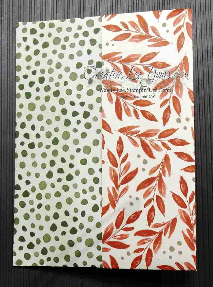 Double Pouch Folder by Wendy Lee, #creativeleeyours, Stampin' Up!, Christmas, Peaceful Pines stamp set
