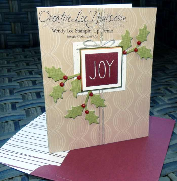 Mistletoe & Holly November 2015 Paper Pumpkin kit by wendy lee, #creativeleeyours, Stampin' Up!
