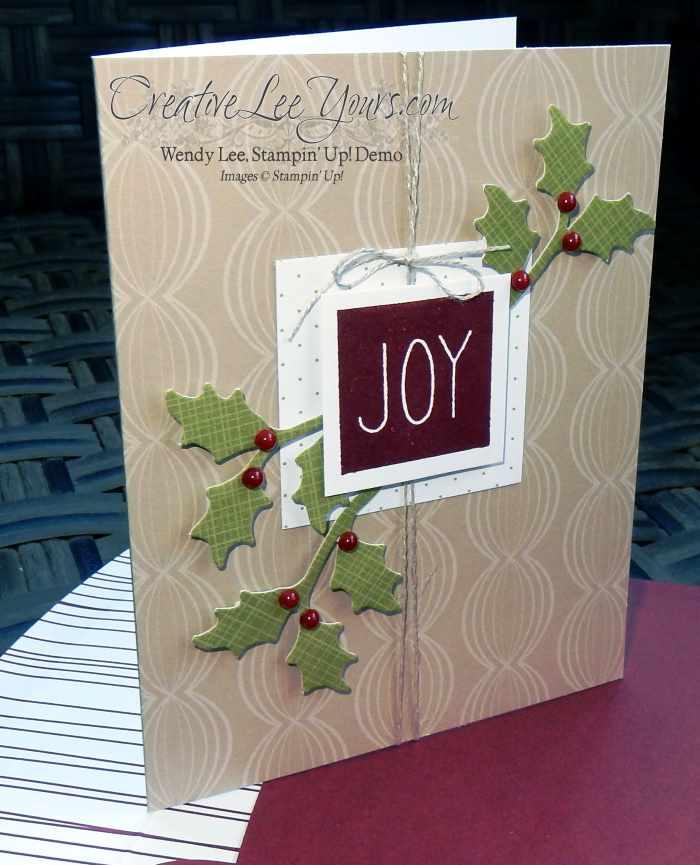 Mistletoe & Holly November 2015 Paper Pumpkin kit by wendy lee, #creativeleeyours, Stampin' Up!
