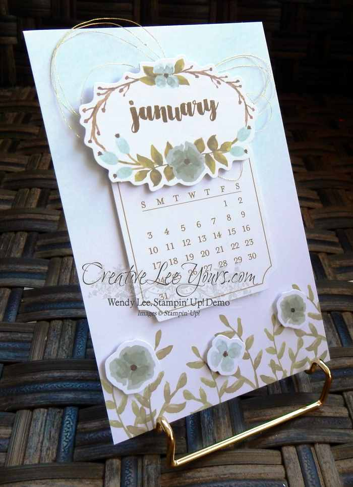 December 2015 One Great Year Paper Pumpkin Kit by Wendy Lee, #creativeleeyours, Stampin Up!, Calendar