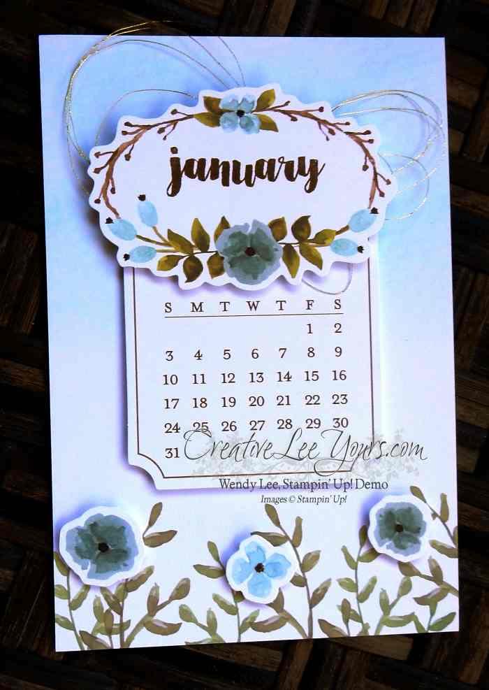 December 2015 One Great Year Paper Pumpkin Kit by Wendy Lee, #creativeleeyours, Stampin Up!, Calendar