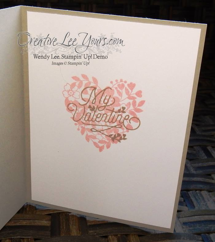 Bloomin' Love by Wendy Lee, #creativeleeyours, Stampin' Up!, Jan 2016 FMN class, Valentine