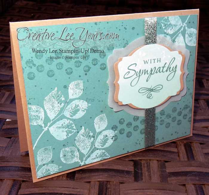 Kinda Eclectic Sympathy by Wendy Lee, #creativeleeyours, Stampin' Up!, FMN 2016 Jan class, hand made card