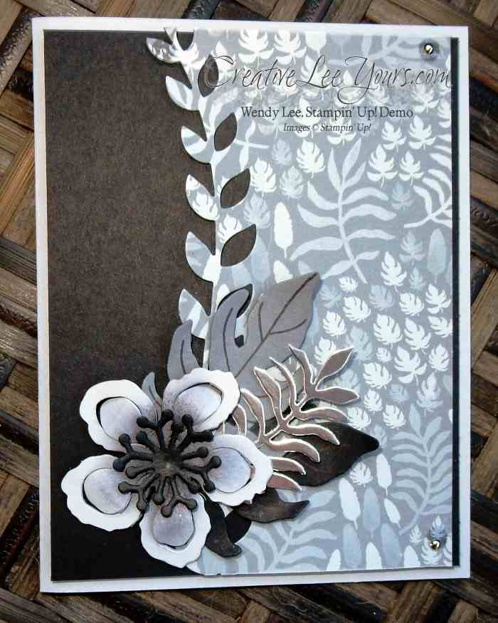 Botanical Blooms Thanks by Wendy Lee, #creativeleeyours, Stampin' Up!, Diemonds team swap