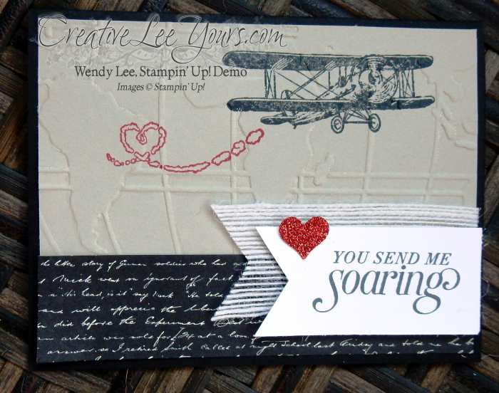 Sky is the limit by Wendy Lee, #creativeleeyours, Stampin' Up!, SAB, Masculine valentine card