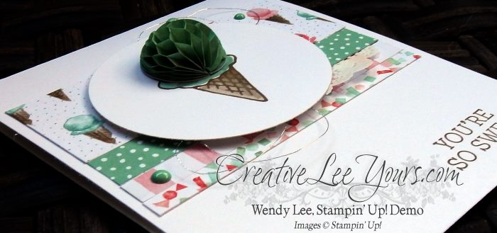 You're So Sweet by Wendy Lee, Honeycomb Happiness, #creativeleeyours, Stampin' Up!, Diemonds team swap