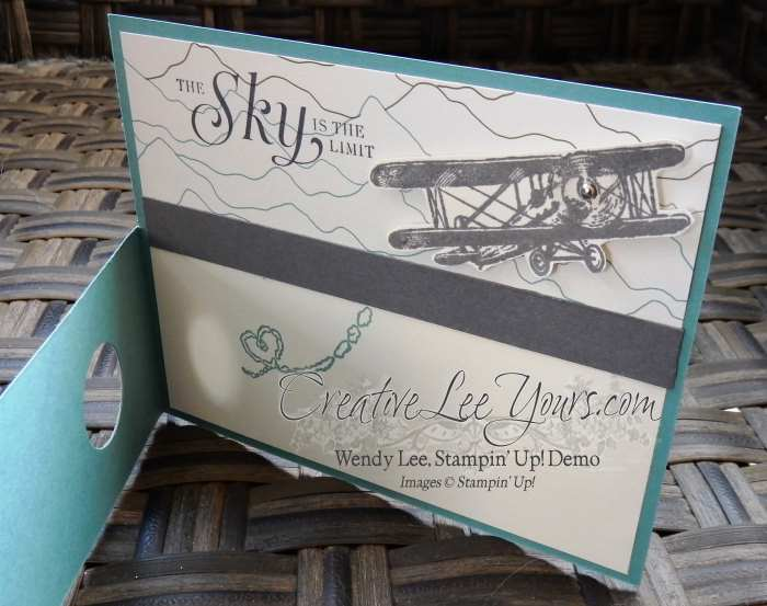 Sky is the Limit by Stephanie Daniel, #creativeleeyours, Stampin' Up!, masculine card, diemonds team swap, Wendy Lee