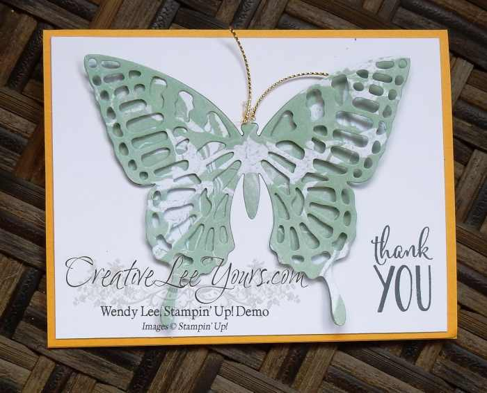 Artistic Butterfly by Betsy Batten, #creativeleeyours, Stampin' Up!, diemonds team swap,butterflies thinlits