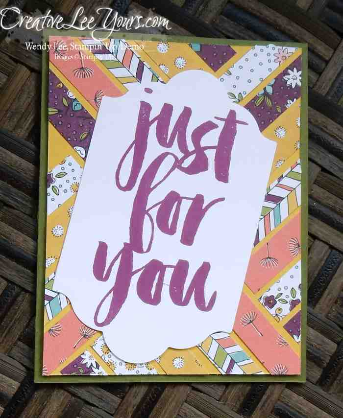 Wildflower Fields Just for You by Jennifer Harrell, #creativeleeyours, Stampin' Up, SAB 2016, Diemonds team swap