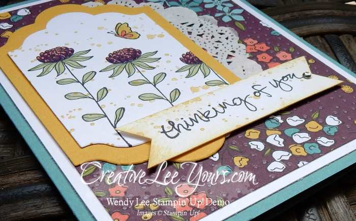 Flowering Fields Thinking of You by Zoe Williams, #creativeleeyours, Stampin' Up!, SAB 2016, Diemonds team swap