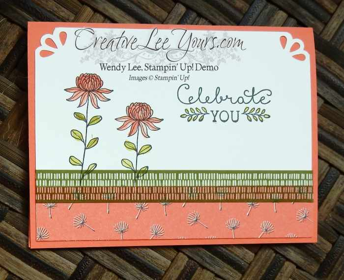 Celebrate You flowering fields by Belinda Rodgers, SAB 2016, #creativeleeyours, Stampin' Up!, Diemonds team swap