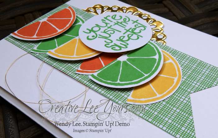 You're Just the Sweetest by Wendy Lee, #creativeleeyours, Stampn' Up!, Apple of my Eye stamp set, Diemonds team meeting