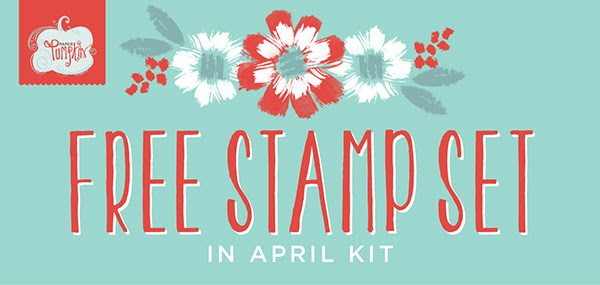 FREE Stamp Set, Paper Pumpkin April 2016, #creativeleeyours, Stampin' Up!