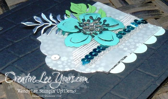 Botanical Wall by Wendy Lee, #creativeleeyours, Stampin' Up!, April 2016 FMN class, Botanical Blooms, Brick Wall