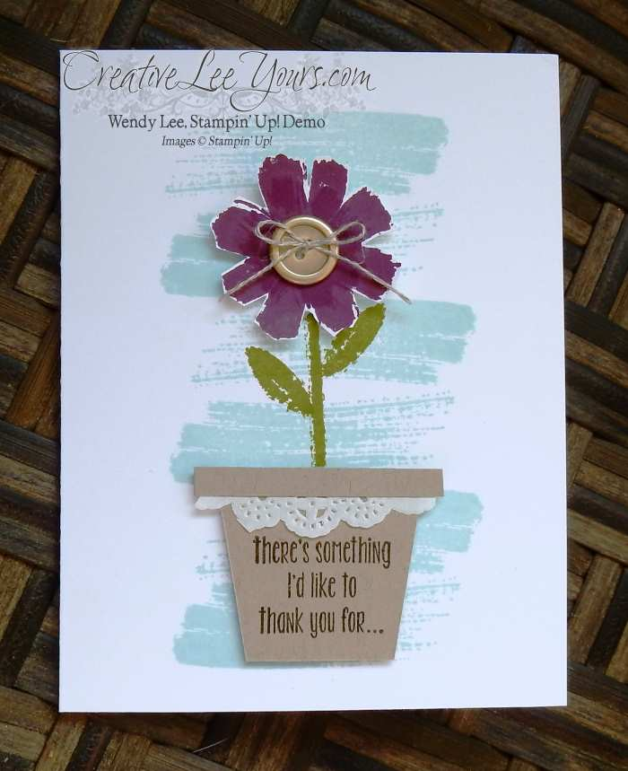 All About Everything Flowerpot by Wendy Lee, #creativeleeyours, Stampin' Up!, April Paper Pumpkin, May 2016 FMN class