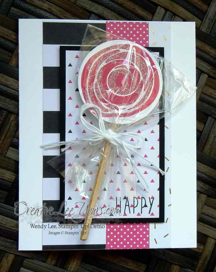 Swirly Lolipop Birthday by Wendy Lee, Swirly Bird stamp set, Stampin Up, Stamping, #creativeleeyours, birthday card