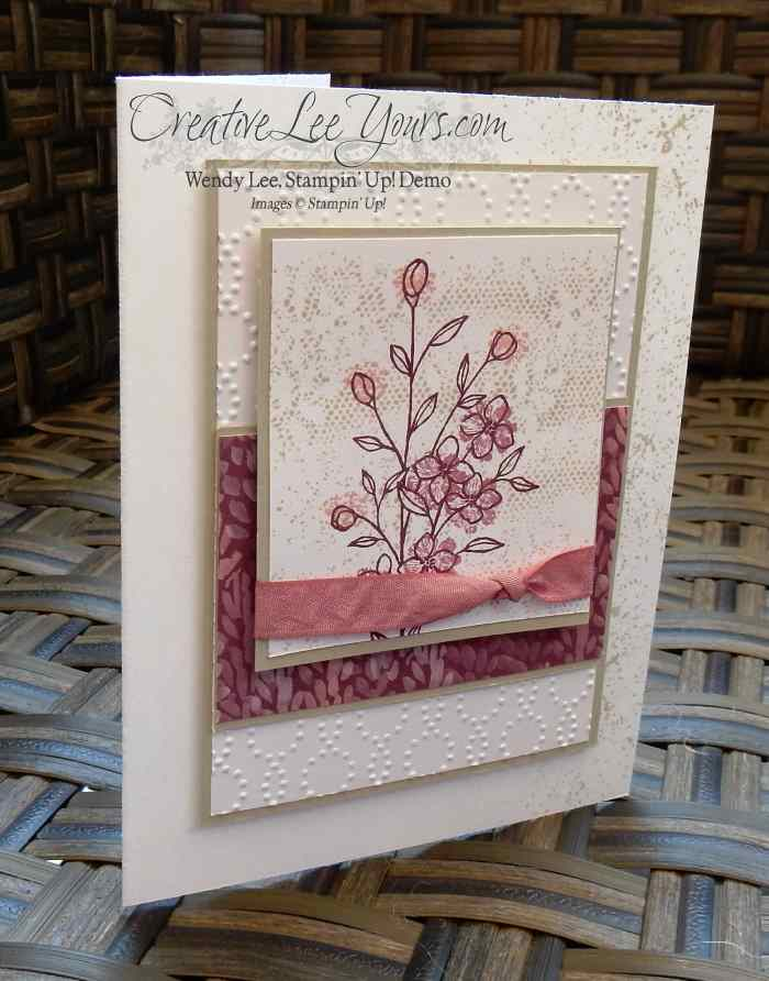Textured Wishes by Wendy Lee, Stampin Up, Stamping, #creativeleeyours, Touches of Texture stamp set