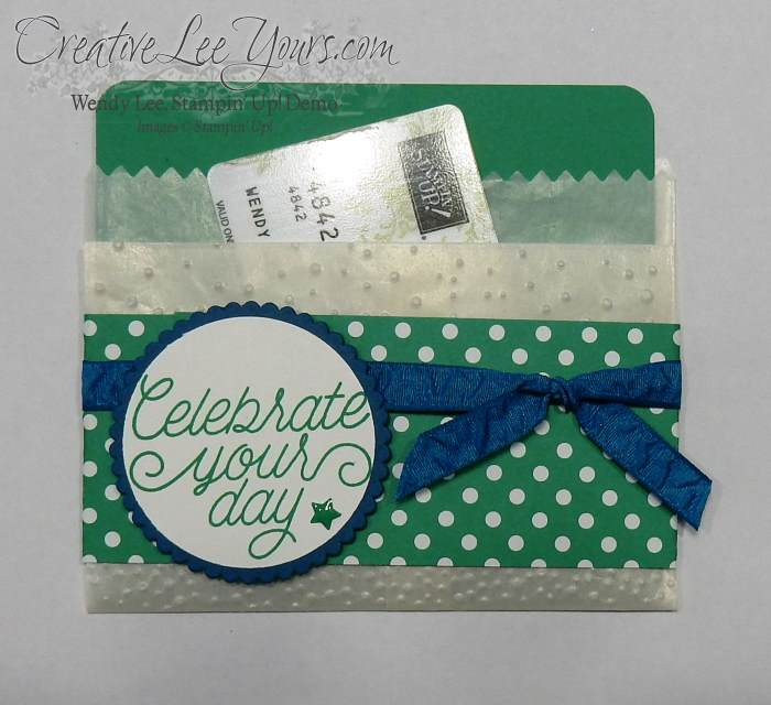 Folded Bag Gift Card Holder by Wendy Lee, Stampin Up, Stamping, #creativeleeyours,tin of cards stamp set, 2016 open house