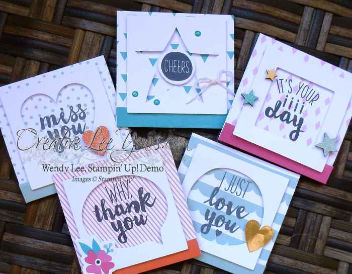 Oh Happy Day by Wendy Lee, Stampin Up, hand made cards, #creativeleeyours, card class