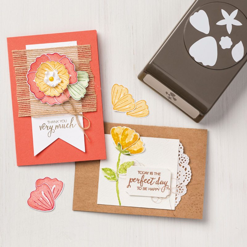 Bunch of Blossoms Stamp Set and Blossom Builder Punch by Stampin up, #creativeleeyours, wendy lee, video