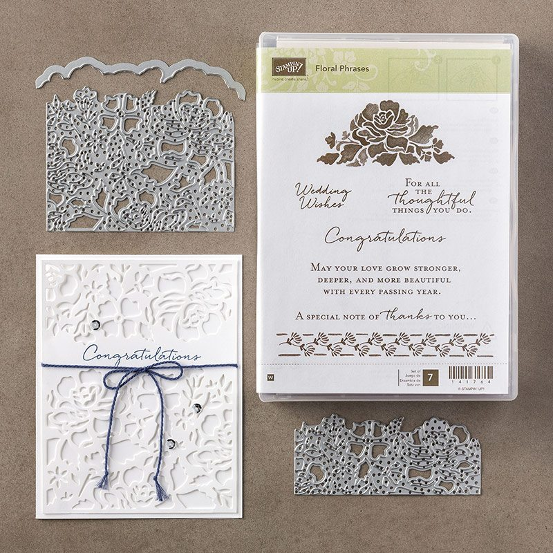 floral phrases stamp set & detailed floral thinlits by Stampin Up, #creativeelyours, wendy lee