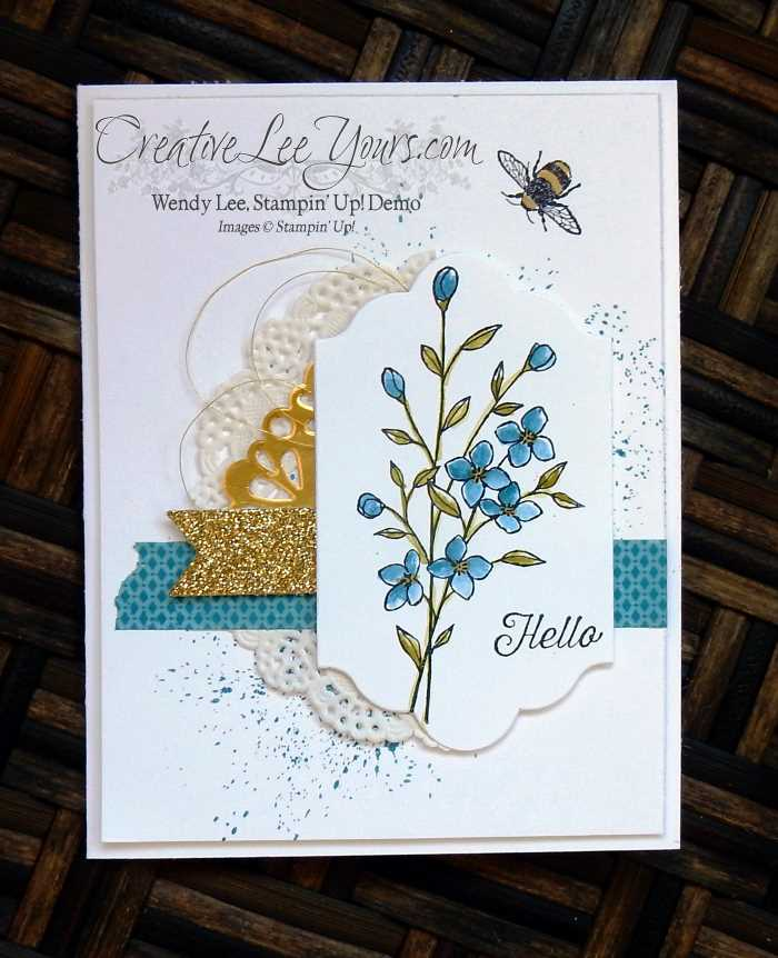 Textured Hello By Wendy Lee, Stampin' Up!, stamping, hand made cards, Touches of Texture stamp set, #creativeleeyours, August 2016 FMN class