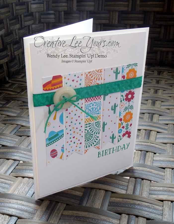 Bringing Birthdays Back DSP Scraps by Wendy Lee, Stamping, Stampin Up, #creativeleeyours, Birthday Cards, Paper Pumpkin Bonus Card