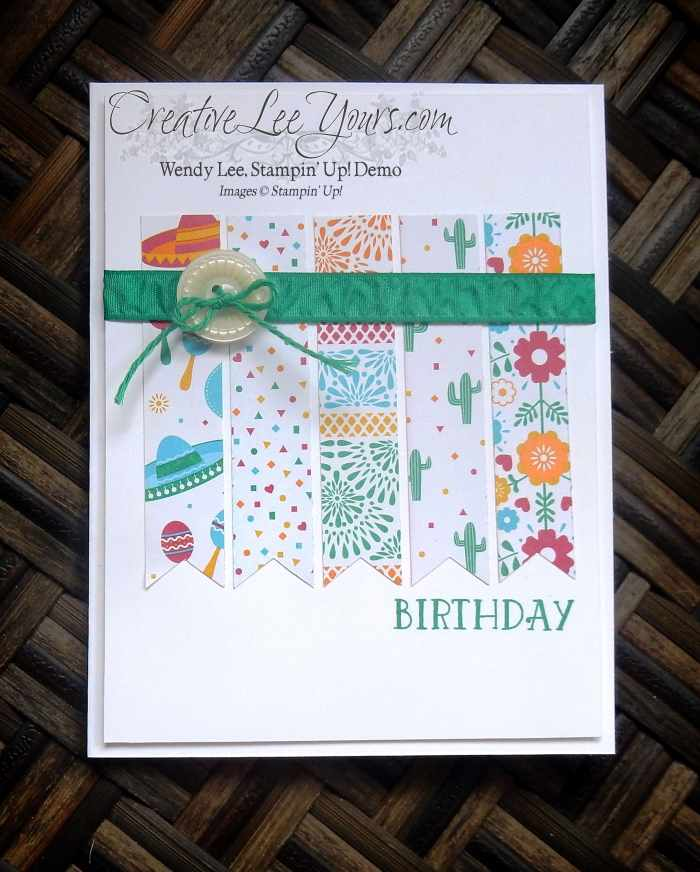 Bringing Birthdays Back DSP Scraps by Wendy Lee, Stamping, Stampin Up, #creativeleeyours, Birthday Cards, Paper Pumpkin Bonus Card