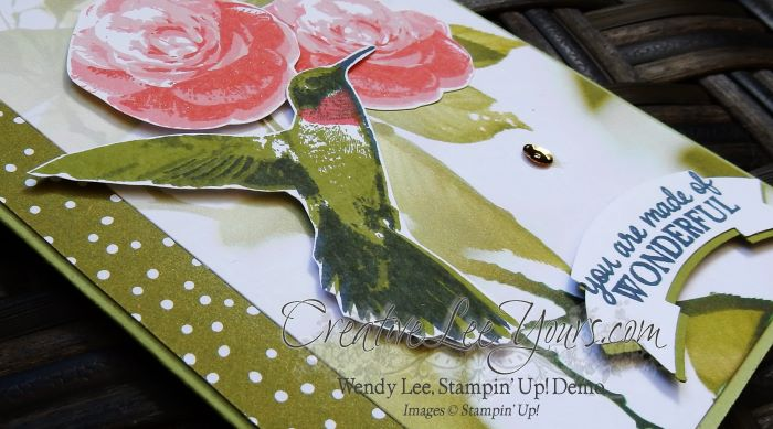 Wonderful Hummingbird by Wendy lee, Stampin Up, Picture Perfect stamp set, serene scenery designer series paper stack, #creativeleeyours, handmade cards