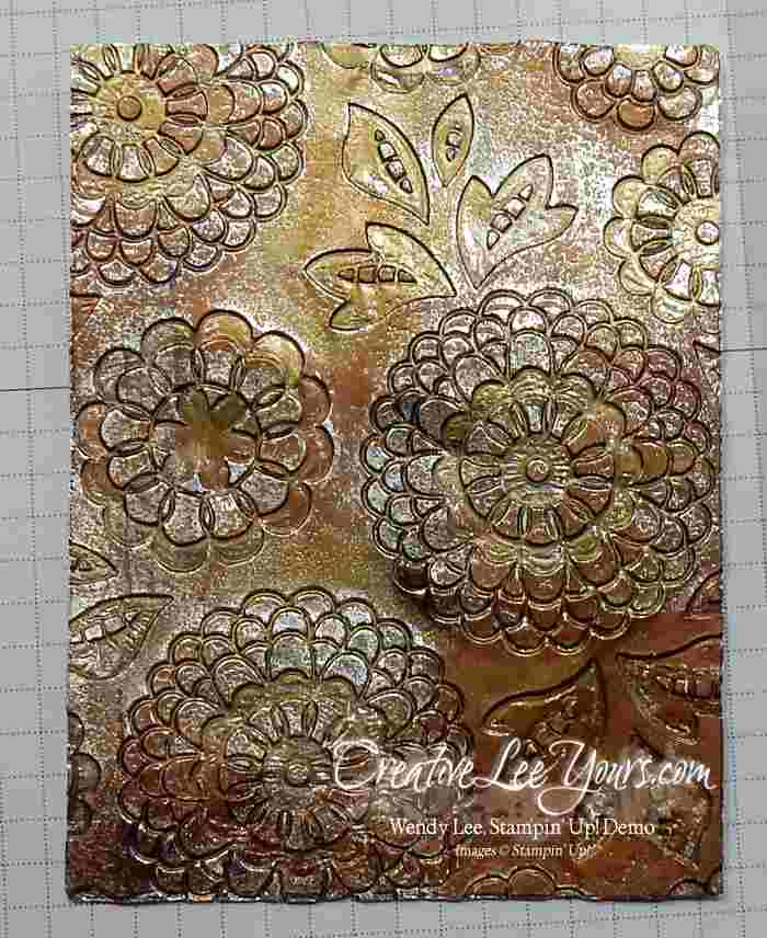 Embossing with Foil by Wendy Lee, Stampin Up, #creativeleeyours, lovely lace embossing folder, cottage greetings stamp set, Embossing, Hand Made Cards