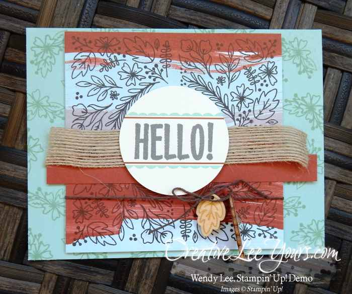 august 2016 bold botanicals paper pumpkin kit by Wendy Lee, Stampin Up, #creativeleeyours