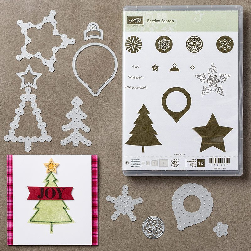 Festive Season Stamp Set & Festive Stitching Thinlits Dies by Stampin' Up!