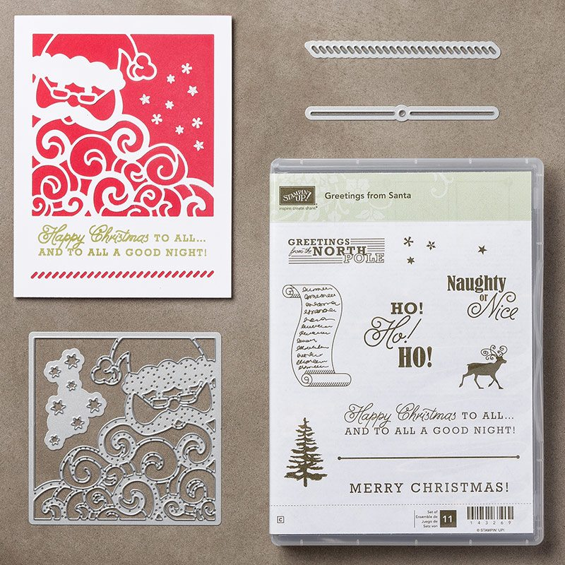 Greetings from Santa & Detailed Santa Thinlits Dies Video by Stampin' Up!