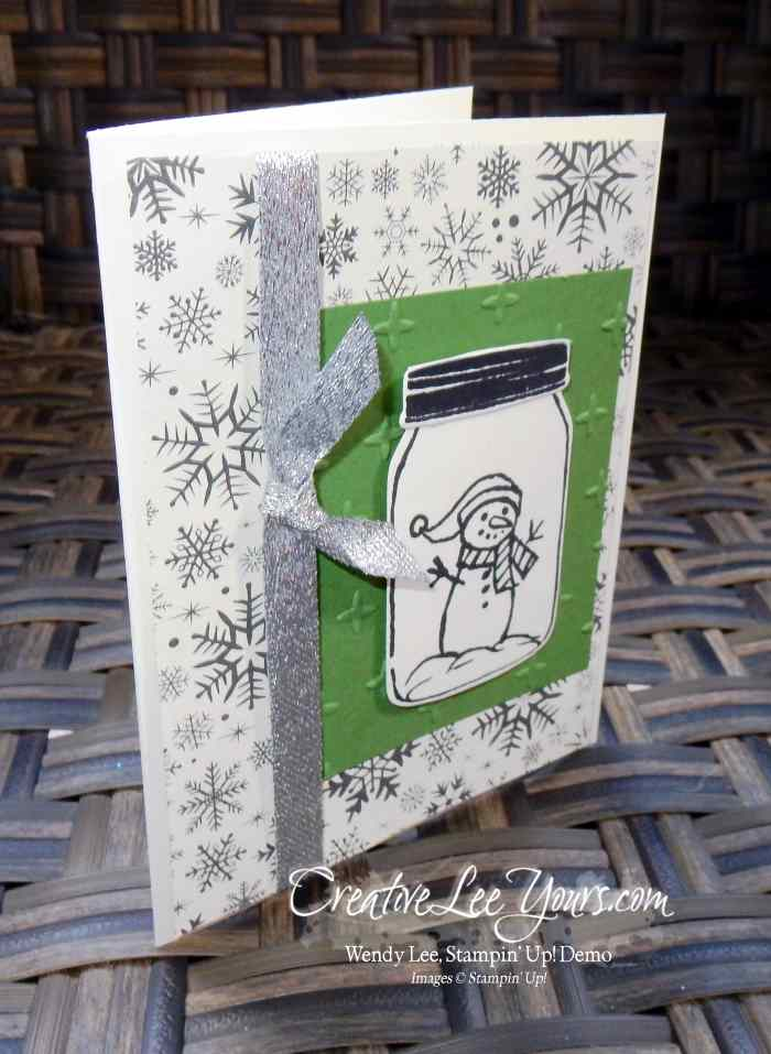 Snowman Jar by Christi Smith,Jar of Love stamp set, jar of cheer stamp set, everyday jars framelits, stampin up, #creativeleeyours, christmas, hand made card, diemonds team swap