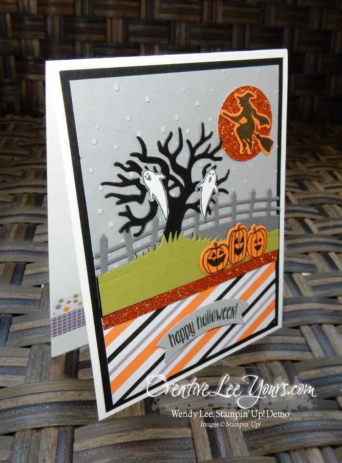 Halloween Scenes by Belinda Rodgers, Stampin Up, halloween scenes edgelits, spooky fun stamp set, #creativeleeyours, Diemonds team swap, hand made halloween card