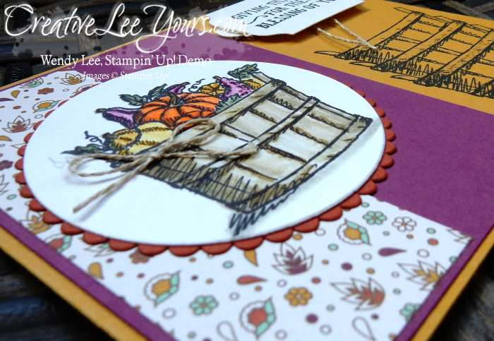 Basket of Wishes by Zoe Williams, Stampin Up, Basket of Wishes stamp set, #creativeleeyours, Wendy Lee, hand made thank you card