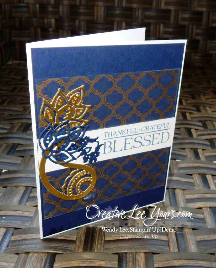 Blessed Paisley by Carol Curren, Stampin Up, #creativeleeyours, paisleys & posies stamp set, paisley framelits, diemond team swap