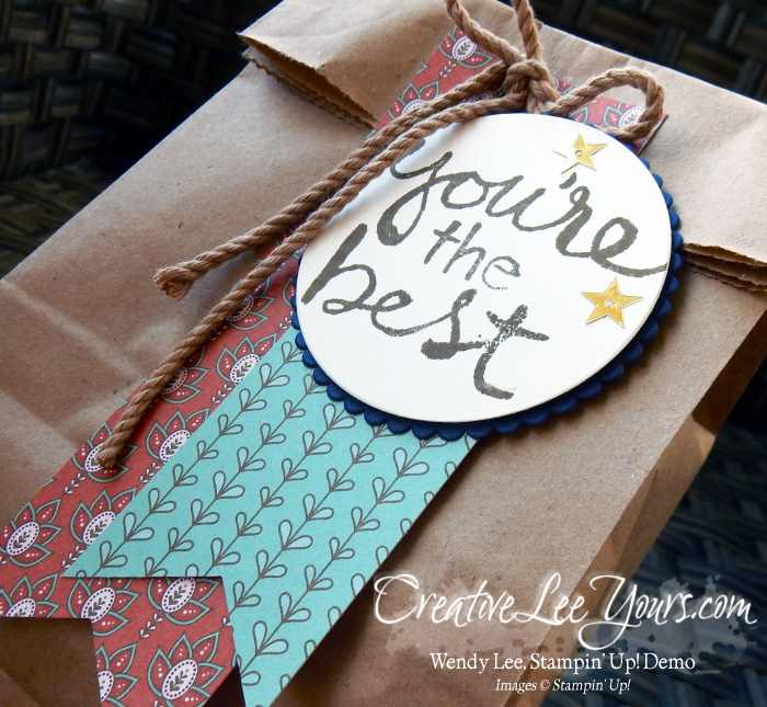 You're the best by wendy lee, Stampin Up, Watercolor Words stamp set, Petals & Paisleys designer seroes paper, #creativeleeyours