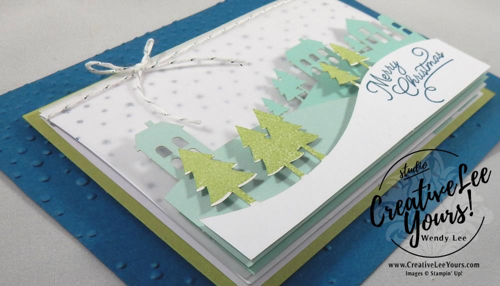 November 2016 Wonderful Winterland Paper Pumpkin by wendy lee, Stampin Up, #creativeleeyours, and made, christmas cards