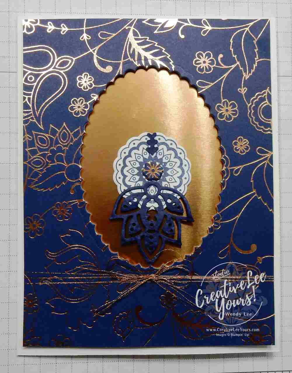 Paisley Owl by Wendy Lee, Stampin Up, #creativeleeyours, paisley framelits, Petals & Paisleys, Paisley & Posie stamp set, layering ovals, floral phrases stamp set, hand made thank you card