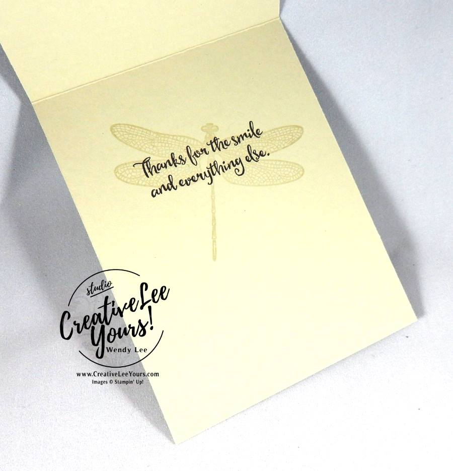 A Wonderful Friend by Wendy Lee, Stampin Up, #creativeleeyours, Jan 2017 FMN class, Hand made card,, dragonfly dreams stamp set, detailed dragonfly thinlits