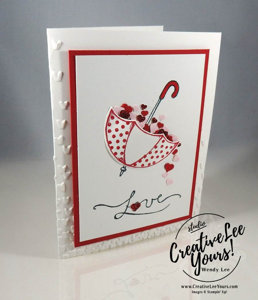 Love You by Wendy Lee, Stampin Up, #creativeleeyours,Jan 2017 FMN, August 2016 Bold Botanicals Paper Pumpkin, hand made valentine card