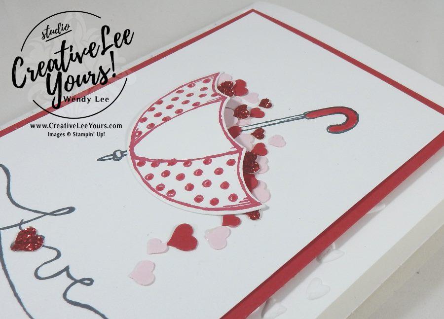 Love You by Wendy Lee, Stampin Up, #creativeleeyours,Jan 2017 FMN, August 2016 Bold Botanicals Paper Pumpkin, hand made valentine card