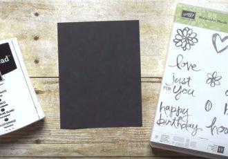 chalkboard technique, Stampin Up, #creativeleeyours, Wendy Lee,Video