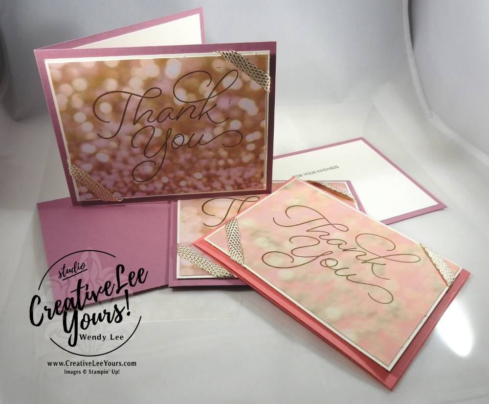 Elegant Thank You by Wendy Lee, Stampin Up, #creativeleeyours, creatively yours, so very much stamp set, #SAB2017, hand made card