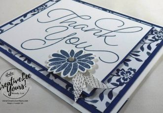 Thank you card, so very much stamp set, Stampin Up, #creativeleeyours, creatively yours, #SAB2017, Diemonds team swap
