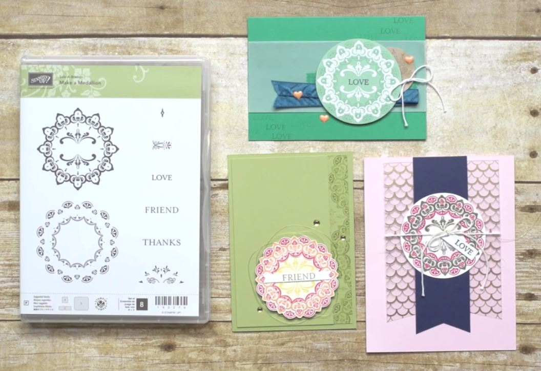 make a medallion stamp set, Stampin Up, #SAB2017, Wendy Lee, #creativeleeyours, Creatively Yours