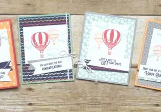 Carried Away Card Set & Tin Video, Stampin Up, #creativeleeyours, creatively yours, wendy lee, #SAB2017, lift me up stamp set, carried away designer series paper