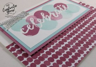 Happy Celebrations by Stephanie Daniel, Stampin Up, #creativeleeyours,creatively yours, Celebrations Duo embossing folder, Diemonds team swap