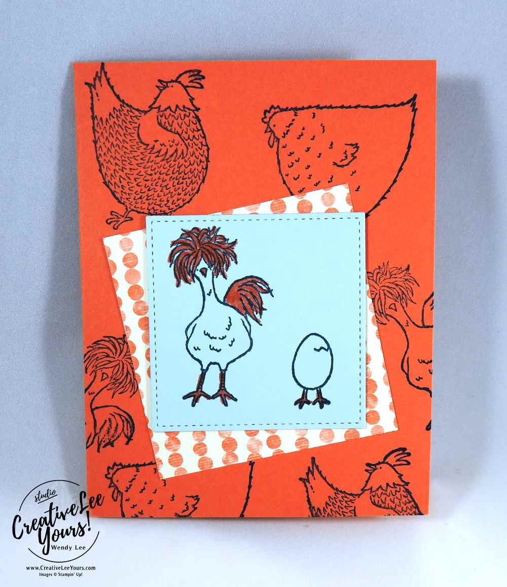 A Good Egg by Christi Smith, Stampin Up, #creativeleeyours, creatively yours, hey chick stamp set, #SAB2017, diemonds team swap